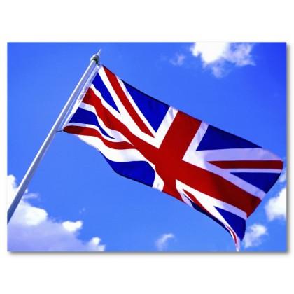 Αφίσα (Αγγλία, σημαία, ουρανός, πόλη, εξοχή, Λονδίνο, θέα)